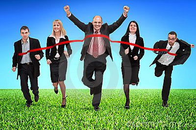 business-people-crossing-finish-line-thumb13397067